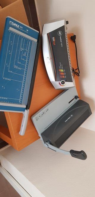 encuadernadora + plastificadora y guillotina