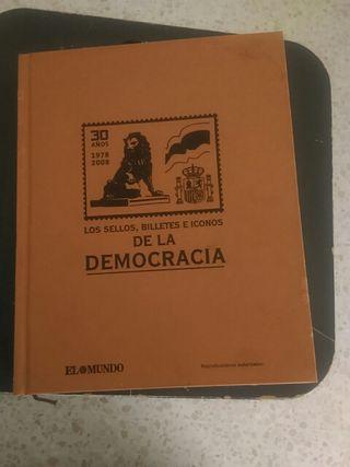colección sellos,billeteseiconos de la democracia
