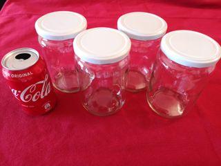 Botes de vidrio con tapa hermético