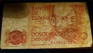 Billete de 200 pesetas