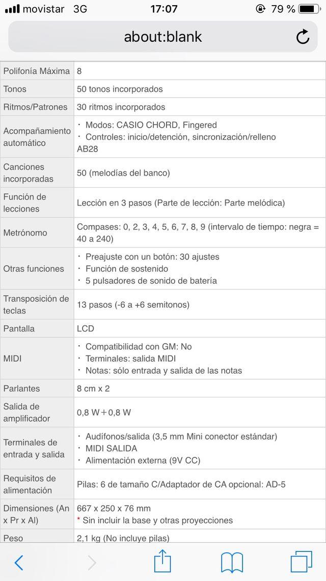Órgano eléctrico Casio MA-150