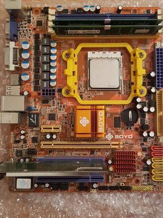 Placa base Soyo SY-A88G para CPU AMD AM2+