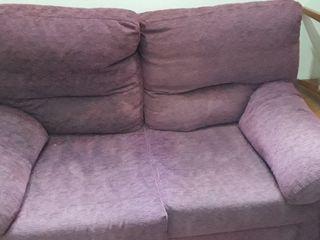 sofá cama lila