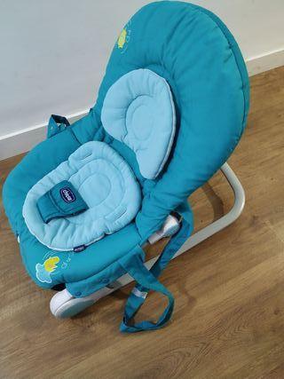 Hamaca marca Chicco azul con vibración