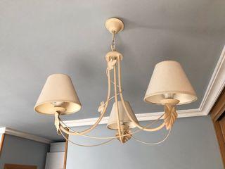 Lámpara de forja de 3 brazos