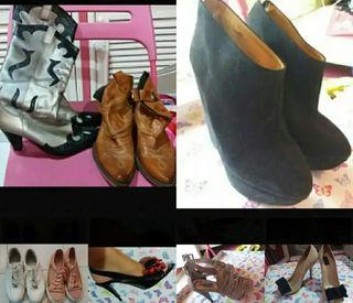 lote 21 pares de zapatos mujer
