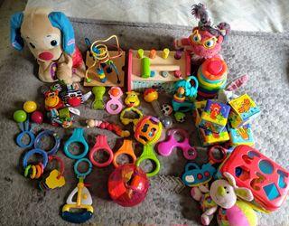 lote juguetes asesorios de bebé