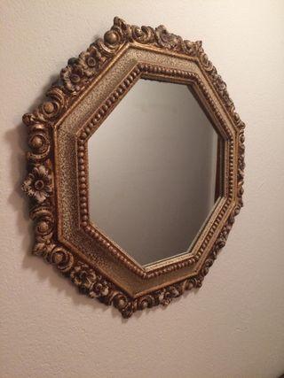 Espejo latón bronce