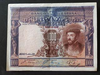 BILLETE DE 1000 PTAS DE 1925, EBC-
