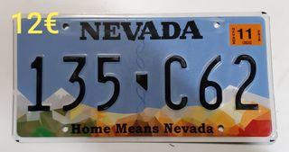 Nevada (2), Matriculas Americanas originales