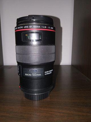 objetivo canon macro 100mm f2.8 L IS USM