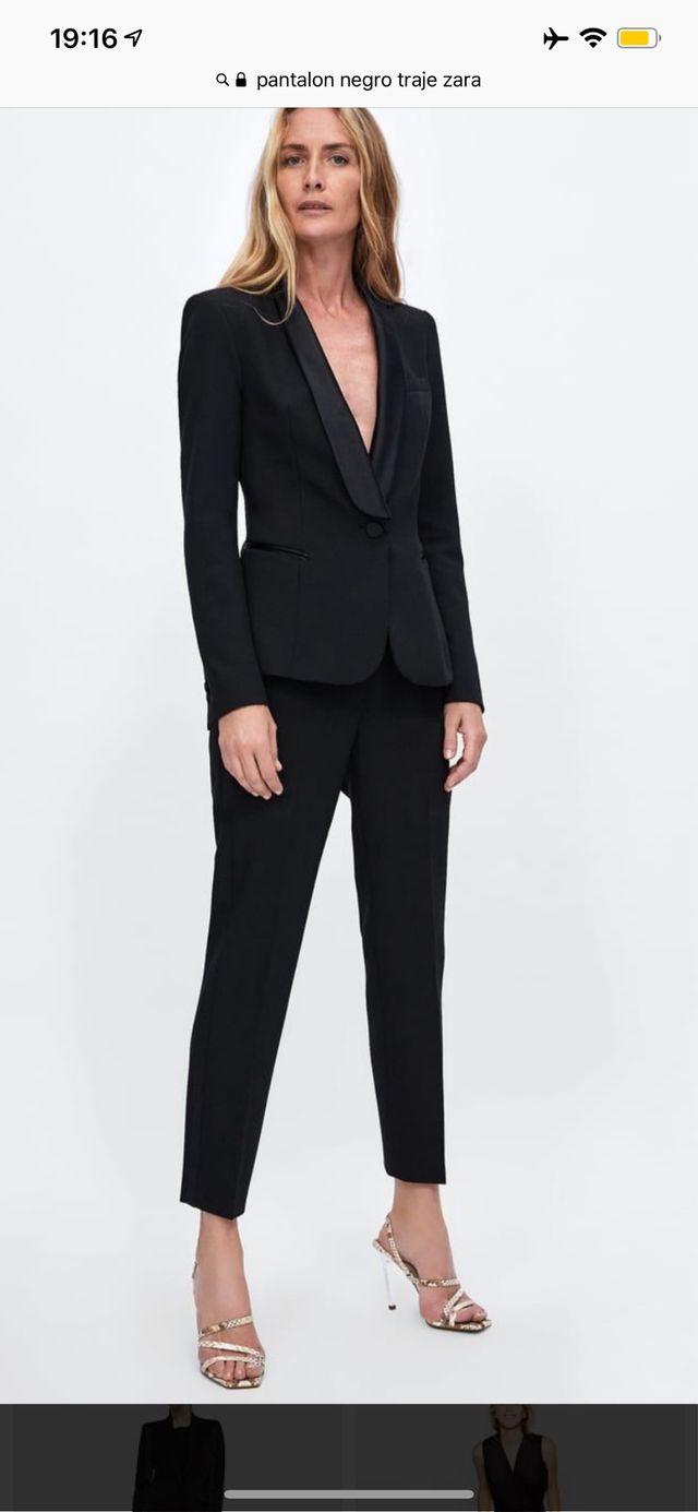 803276fc3 Pantalón mujer ZARA traje negro de segunda mano por 12 € en ...