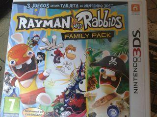 Rayman Rabbids Juego Nintendo 2/3DS