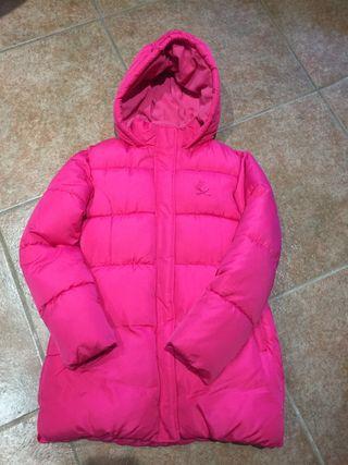 Abrigo de niña rosa, talla 14