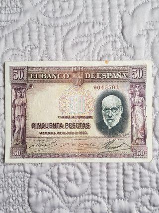 Billete 50 pesetas 1935