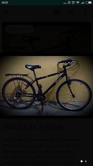 Bicicleta de montaña adaptada a paseo