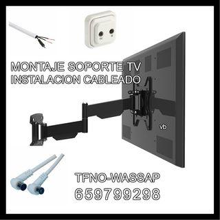 Montaje soportes TV y cableado-