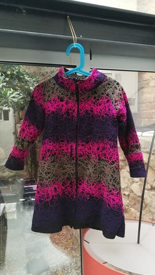 abrigo con cremallera 4 años talla 116