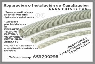 CANALIZACION TUBOS FIBRA-TELEFON