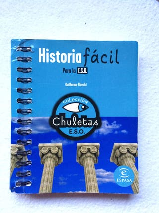 Libro Historia en la ESO de colección Chuletas