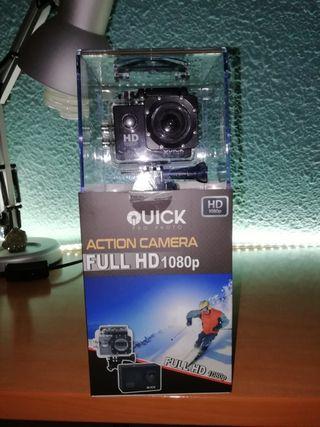 Cámara deportiva acuática 1080p