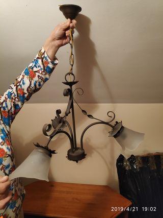 lámpara techo de forja