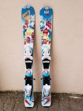 Esquíes esquís niño 87 cm