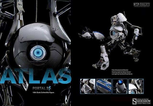 Figura W3A Sideshow Portal 2 Atlas 1/6 nuevo