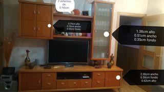 Mueble de salón de madera, apilable. Fuenlabrada