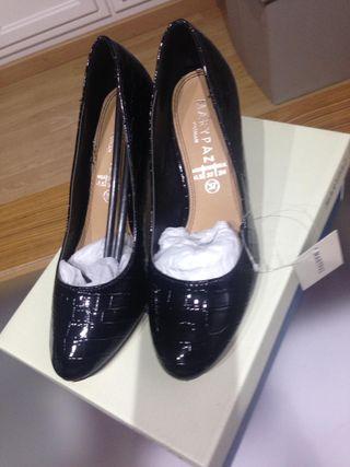 Zapatos Marypaz negros, 37, SIN ESTRENAR