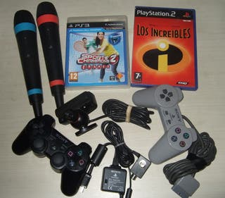 Lote Playstation mandos juegos y accesorios