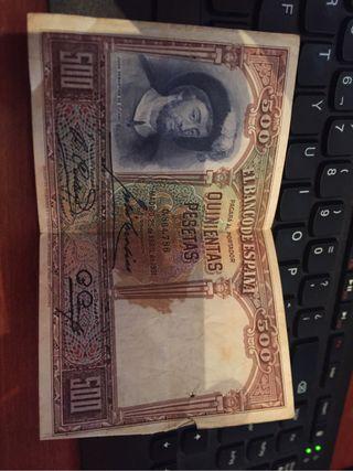 Billete banco España 500 pesetas año 1931