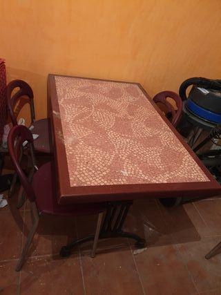 10 mesas de forja y rectangular