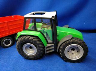 Playmobil Tractor grande con remolque REF 6130