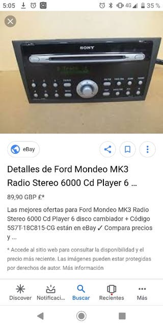 Cargador Radio CD Sony 6000