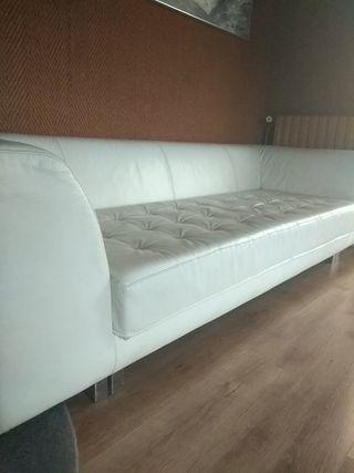 Sofa piel blanca diseño