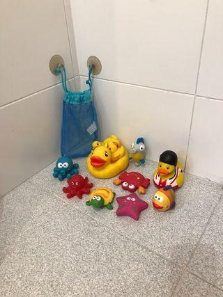 Lote patos y muñecos de baño