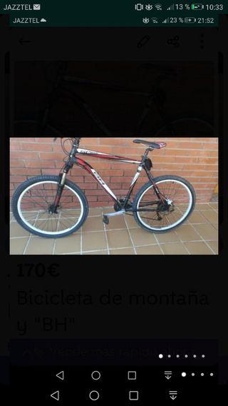"""Bicicleta de montaña """"BH"""""""