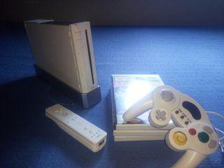 wii consola + juegos + accesorios