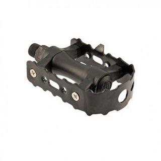 Pedal clásico nylon-metal negro eco para bicicleta
