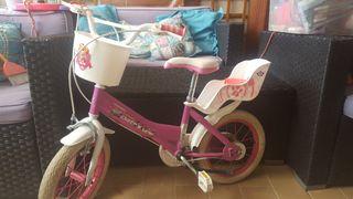 Bicicleta niña patruya canina de 14 pugadas