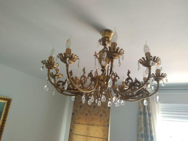 lamparas de techo araña LAMPARA TECHO ARAA De Segunda Mano Por 130 En Sevilla En