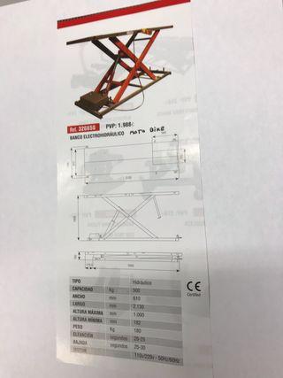 Elevador electrohidraulico para motos