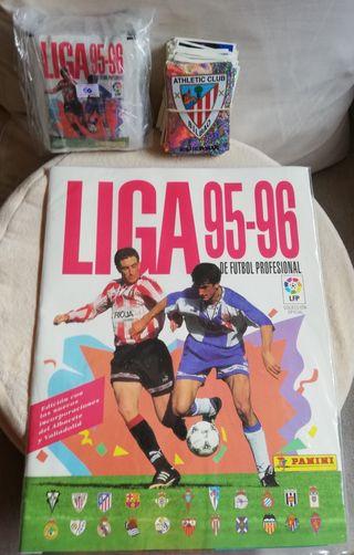 Álbum vacío 50 sobres sin abrir Liga 95/96
