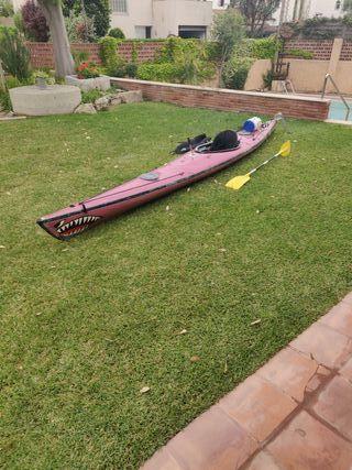 kayak de mar, travesía