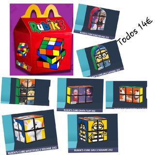Lote 7 cubos Rubik's McDonalds Happy Meal