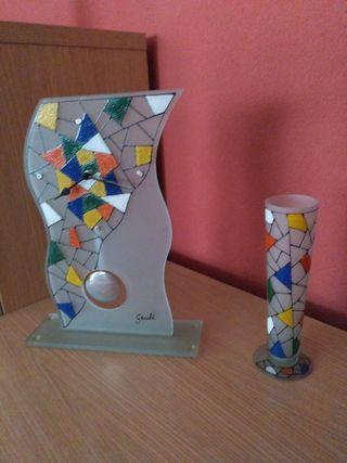 Reloj y copa decorativa colección Gaudi