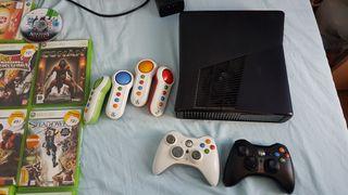 xbox360 + juegos ...en su caja