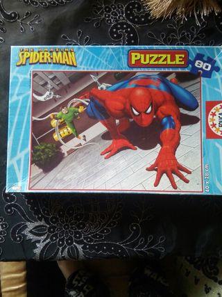 puzzle de spider man 80 piezas
