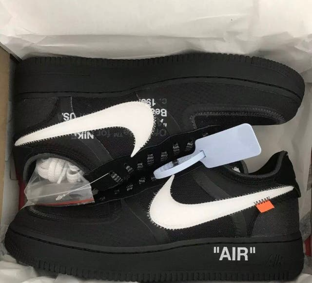 Off white Air Force 1s